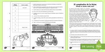 Desafíos matemáticos: El cumpleaños de la Reina - Problemas Matemáticos, Resolver, Lógica, Mesas, Puzle,Spanish