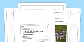 (II) Eng Lang EDEXCEL Style Writing Question - time, essence, edexcel, style, question