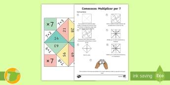 Comecocos: Multiplicar por 7 - juego, mates, matemáticas, por siete, x7,Scottish