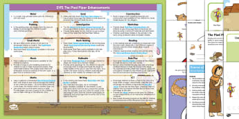 EYFS The Pied Piper Enhancement Ideas and Resources Pack - EYFS, Early Years Planning, Adult Led, Continuous Provision, The Pied Piper, Traditional Tales, Pipe