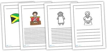 Mary Seacole Writing Frames - mary seacole, writing frame, writing guide, writing aid, lined page, page with lines, line guide, guided writing, templates