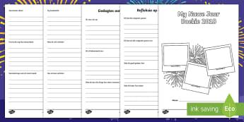 Nuwe Jaar Aktiwiteit Boekie  - Januarie, fees, vier, tradisies, skryf, geletterdheid, skrif