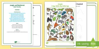 Jungle and Rainforest Quiet Time Box - Jungle, Rainforest, forest, tropical, amazon, childminders, child minder