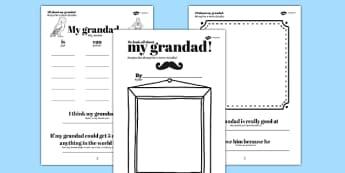 A Book About My Grandad Father's Day Gift Ideas Polish Translation - polish, granddad, fathers day