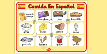 Spanish Food Display Poster - posters, displays, Spain, visual