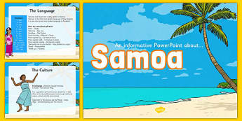 Samoa Information PowerPoint - pacific islands, samoa, countries
