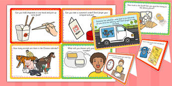 Chinese Takeaway Challenge Cards - challenge cards, chinese