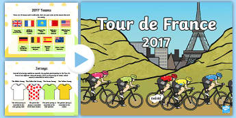 Tour de France Informative PowerPoint - le tour, cycling, sport