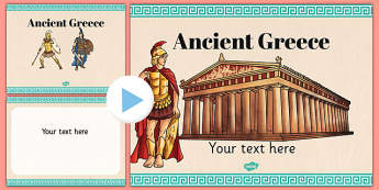 Ancient Greece Themed PowerPoint Template - Ancient, Greece, PPT