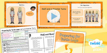 Computing: Preparing for Turtle Logo: Moving Forward and Making Turns Year 2 Lesson Pack 1
