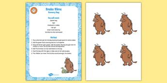Snake Slime Sensory Bag to Support Teaching on The Gruffalo - the gruffalo, eyfs