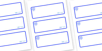 Blue Themed Editable Drawer-Peg-Name Labels (Blank) - Themed Classroom Label Templates, Resource Labels, Name Labels, Editable Labels, Drawer Labels, Coat Peg Labels, Peg Label, KS1 Labels, Foundation Labels, Foundation Stage Labels, Teaching Labels
