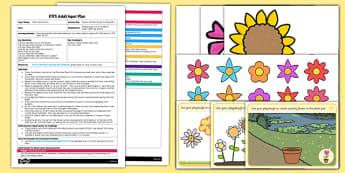 Flower-Themed Scissor Cutting Skills EYFS Adult Input Plan and Resource Pack