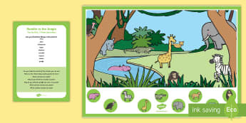 Jungle Can You Find...? Poster and Prompt Card Pack - Rumble in the Jungle, Giles Andreae, Rainforest, forest, animals, finding