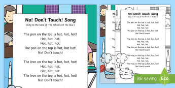 No! Don't Touch Song - opposites, concepts, early learning, singing time, nursery rhymes, action rhymes