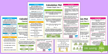 Year 2 Addition, Subtraction, Multiplication and Division Differeniated Maths Mats - KS1 Maths, Year 2, Y2, addition, subtraction, multiplication, division