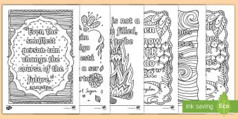 Classroom Inspiration Quotes Mindfulness Colouring Pages English/Spanish - EAL, Classroom Inspiration Quotes Mindfulness Colouring Sheets - classroom, inspiration, quotes, min