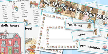 The Tale of Two Bad Mice Story Sack - two bad mice, story, sack