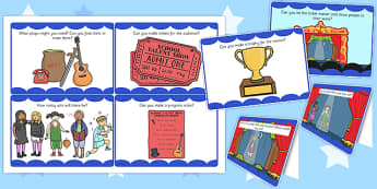 Talent Show Role Play Challenge Cards - challenge cards, talent