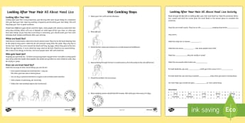 Looking After Your Hair All About Head lice Fact File and Worksheet / Activity Sheet - Health and Hygiene, Special Educational Needs, Head lice, Life Skills, Key Stage 3, Key Stage 4