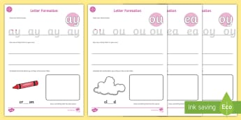 Middle East Phase 5 Letter Formation Activity Sheet - handwriting, Reading, Blending, digraphs, split digraph, initial blends. Phonics, UAE,