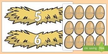 Adunări: Pune oul în cuibul potrivit Activitate - adunări cu suport imagistict, matematică, adunări, scăderi, activități, jocuri, fișe,Romanian