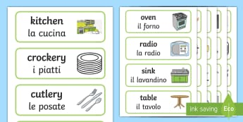 Vocabulary - Literacy Vocabulary Primary Resources - Italian ...