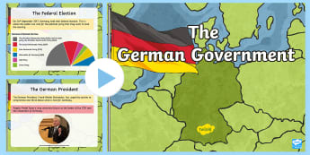 The German Government Information PowerPoint - citizenship, wider world, politics, european politics, leaders