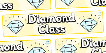Diamond Themed Classroom Display Banner - Themed banner, banner, display banner, Classroom labels, Area labels, Poster, Display, Areas