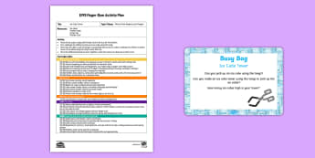 EYFS Ice Cube Tower Finger Gym Plan and Prompt Card Pack - Lost and Found, Oliver Jeffers, polar regions, ice, funky fingers, building, construction, frozen, f