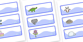 Polar Bear Themed Editable Drawer-Peg-Name Labels - Themed Classroom Label Templates, Resource Labels, Name Labels, Editable Labels, Drawer Labels, Coat Peg Labels, Peg Label, KS1 Labels, Foundation Labels, Foundation Stage Labels, Teaching Labels