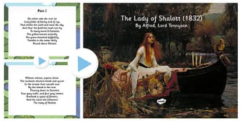 'The Lady of Shalot' by Alfred Lord Tennyson PowerPoint Lesson Pack