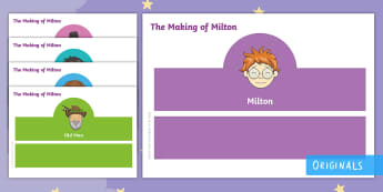 The Making of Milton Role-Play Headbands - courage, story, drama, acting, KS1, EYFS, retell, retelling, twinkl fiction, twinkl originals