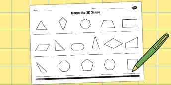 Name the 2D Shape Year 6 Worksheet - worksheet, 2d, shape, year 6