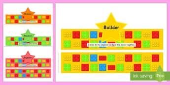 Building Bricks Therapy Job Description Headbands - building