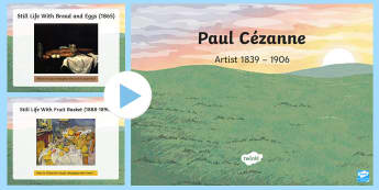 KS2 Paul Cezanne Information PowerPoint - KS2, year 3, year 4, year 5, year 6, yr 3, yr 4, yr 5, yr 6, art, famous artists, artists, Impressio