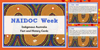 NAIDOC Week Fact Cards- Australia