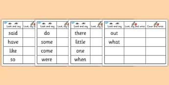Phase 4 Tricky Words Writing Practice Worksheets - phase 4
