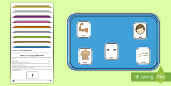 What's on the Tray? Parts of the Body Memory Activity Pack - my body, Visual Stimulus, Visual Memory, Auditory Processing Disorder, Deafness, Memory Games, Worki