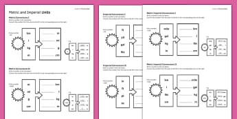 KS3_KS4 Maths Student-Led Practice Sheets Metric and Imperial Units - maths, KS3, KS4, GCSE, worksheet, practise, independent, growth mindset, measure, standard units, imperial units, conversion