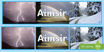 Weather Photo Display Banner Gaeilge - aimsir, display, irish, gaeilge, daily calendar, Irish