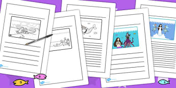 The Little Mermaid Story Writing Frames - writing template, story