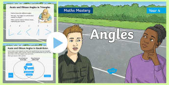 Year 4 Angles Maths Mastery PowerPoint - Reasoning, Greater Depth, Abstract, Problem Solving, Explanation