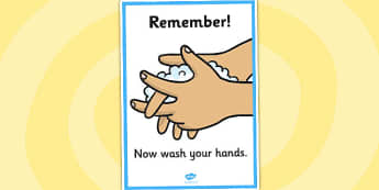 'Now Wash Your Hands' A4 Display Sign (Boys) - Toilet Area Sign, Classroom Area Signs, KS1, Banner, wash hands,  toilet, toilets, boys, girls, Foundation Stage Area Signs, Classroom labels, Area labels, Area Signs, Classroom Areas, Poster, Display, A