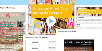 Magazine Front Cover Analysis Lesson Pack - magazine, lesson