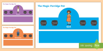 The Magic Porridge Pot Role Play Headbands - stories, role play