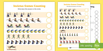 Invictus Games Counting Activity Sheet - KS1 - Invictus Games - 23rd Sept 2017