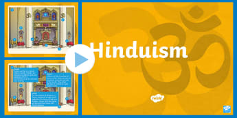 Inter Faith Week: Hinduism PowerPoint - Mandir, Diwali, India, reincarnation, Ganges