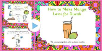 Mango Lassi Diwali Recipe PowerPoint - recipes, cooking, cook