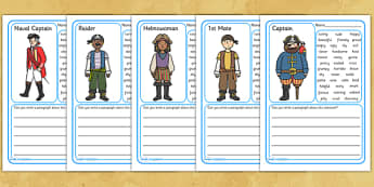 Pirate Description Writing Frames - pirates, pirate writing frames, pirate descripive writing, pirate worksheet, pirate descriptive writing worksheet